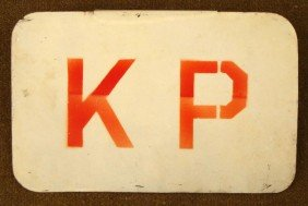 WWII U.S. JEEP KP PLAQUE