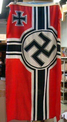 WWII Kriegsmarine Large Nazi Naval Flag German Navy