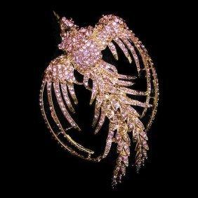 Swarovski Crystal Phoenix Brooch