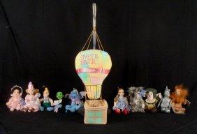 11 Wizard Of Oz Plush Dolls Dorothy & Friends W/Balloon