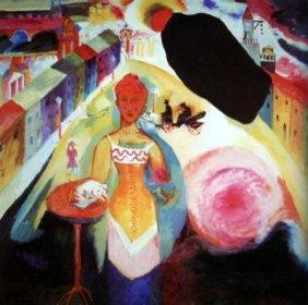 Kandinsky Modern Art Print Lady In Moscow
