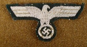 ORIGINAL NAZI ARMY OFFICER'S UNIFORM EAGLE AND SWASTIKA