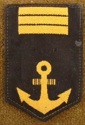 WWII JAPANESE NAVY RANK PATCH-ORIGINAL W/GOLD ANCHOR