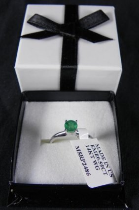 .55 Carat Emerald Solitaire Cut Ring