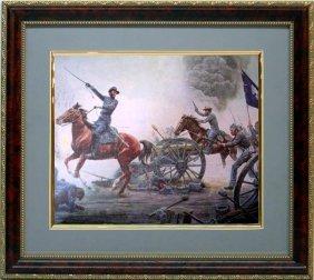 Mort Kustler Frmd Print Civil War First To The Guns