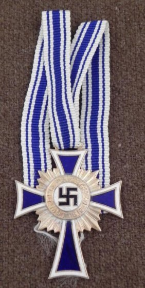 WWII Repro Nazi Mothers Cross W/Orig Ribbon 1938