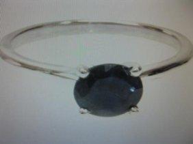 1.25 Carat Blue Sapphire Solitare Ring.