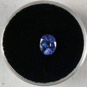 1.10 CT TANZANITE BLUE OVAL GEMSTONE