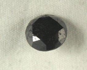 2.63 Carat Loose Black Diamond Opaque-A! Clarity