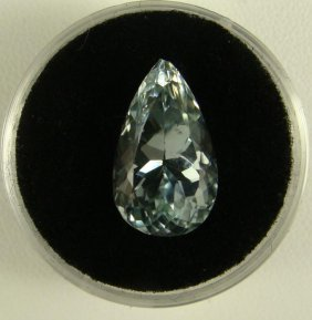 8.32 Carat Aqua Blue Kunzite Gemstone