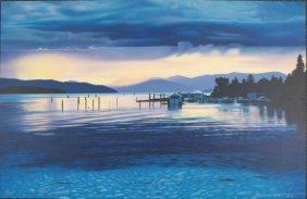Vibrant Blue Surreal CRYSTAL CLEAR Licsko Art Print