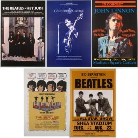 5 Reproduction Rock Posters The Beatles
