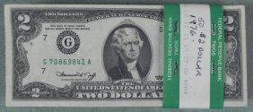 50 $2 Bills 1976 Notes Many UNC G Mint Mark Chicago