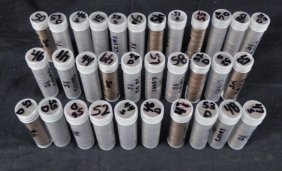 32 Rolls Of 50 Lincoln Wheat Pennies 1941-1958
