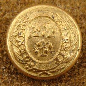 Connecticut Civil War Military Gold Antique Button