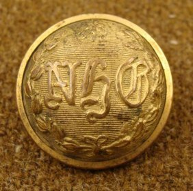 New Haven Grays Civil War Military Gold Antique Button