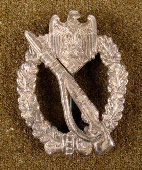 Nazi WWII Silver Infantry Assault Badge Die Struck