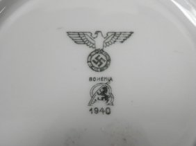 RARE ORIG NAZI WEHRMACHT/ARMY DINING HALL SAUCER 1940