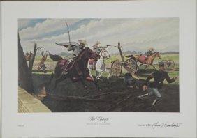 The Charge Juan J'omohundru War Cavalry Art Print