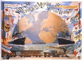Schindeler : Voyage Around The World, 1890 Art Print