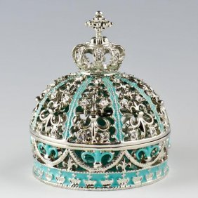 Imperial Crown Faberge Inspired Jewelry Box