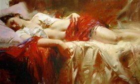 Restful By Pino 24x40 Signed By The Artist