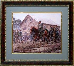 Mort Kunstler Civil War Frmd Print Gen. Jackson Funeral
