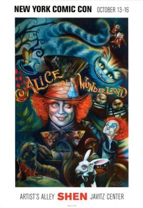 Shen Alice In Wonderland Signed Art Print