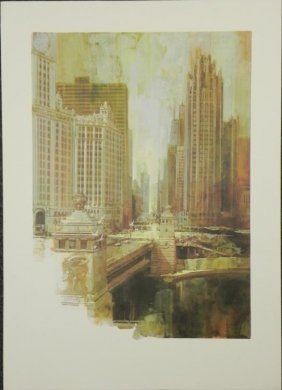Dan Lotts Chicago Art Print Nice Day On Michigan Avenue