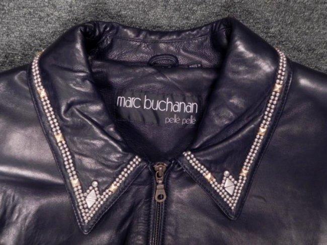 Marc buchanan pelle pelle mens leather jacket