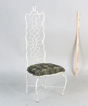 Rene Prou Wrought Iron Side Chair
