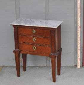 French Directoire M/T Miniature Three Drawer Chest