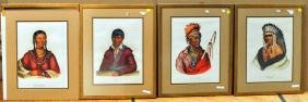 Three Hand Colored Lithographs Native Americans