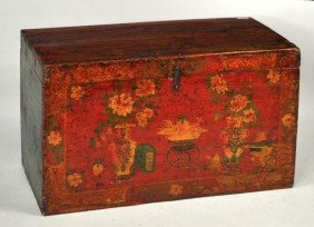 Asian Paint Decorated Trunk