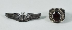 Two Sterling Silver Air Force Jewelry Items