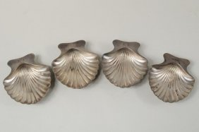 Four Tiffany & Co. Silver Shell Dishes