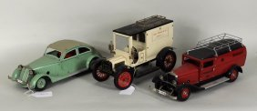 Three Marklin German Toy Cars