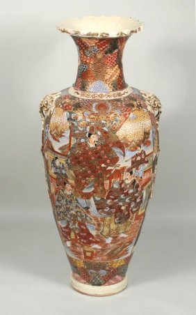 Japanese Satsuma Porcelain Palace Vase