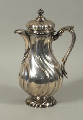 German Silver Swirl Design Coffee Pot