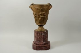 Clodion Dore Bronze Urn