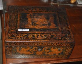 Regency Stencil Decorated Box
