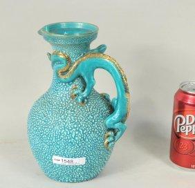 Zsolnay Hungarian Porcelain Dragon Ewer