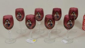 Eight Imperial Russian Wine Glasses
