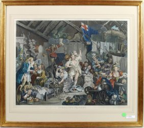"""After William Hogarth """"strolling Players"""""""