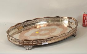 Sheffield Silver Plate Footed Tray