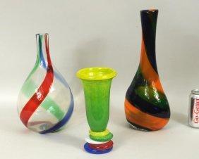 Group Three Modern Glass Vases
