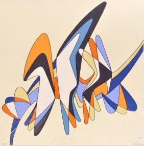 """Georgio Zennaro """"abstract"""" Silkscreen, Signed"""