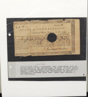 Revolutionary War Continental Army CT Note