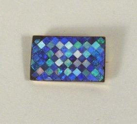 Opal Mosaic Pin