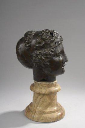 Poss. Jean-Pierre Cortot, Bronze Bust Baccante